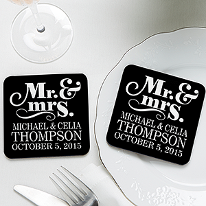 Happy Couple Personalized Coaster Favors