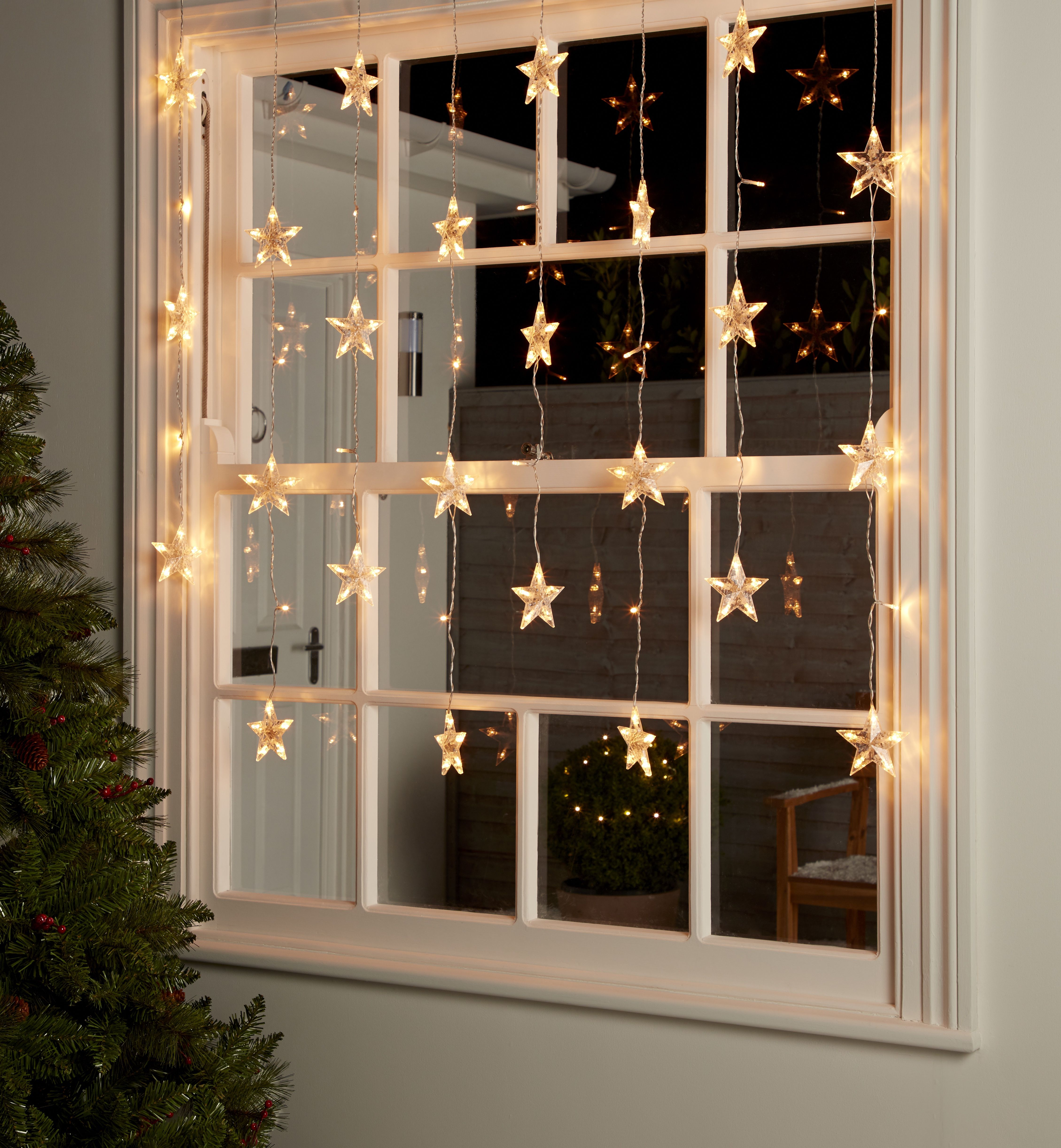 Dress Your Windows To Impress With Our Pretty Led Star Icicle Lights Subtle Yet Effective Christmas Window Decorations Fun Christmas Decorations Christmas Diy