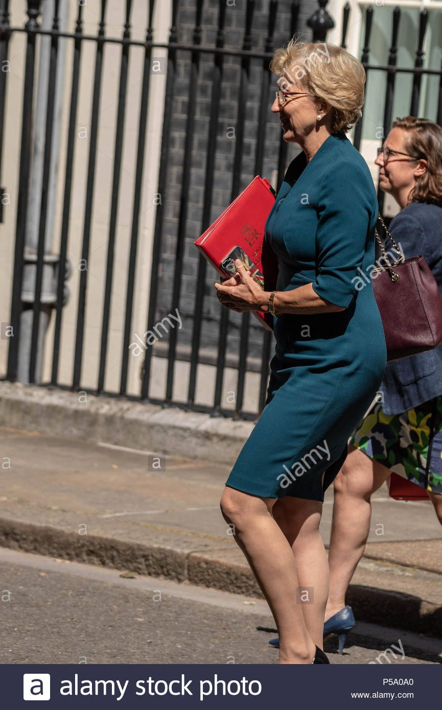 ca1925faf1 Download this stock image: London 26 June 2018, Andrea Leadsom MP PC,  Leader of the House of Commons,, leaves Cabinet meeting at 10 Downing  Street, ...