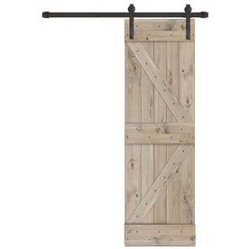 Creative Entryways Sliding Barn Door Weathered Gray Stained K