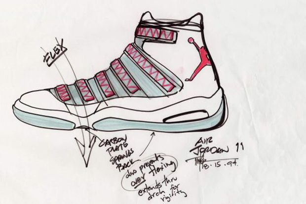 4b83095586afe Air Jordan XI Original Sketches By Tinker Hatfield