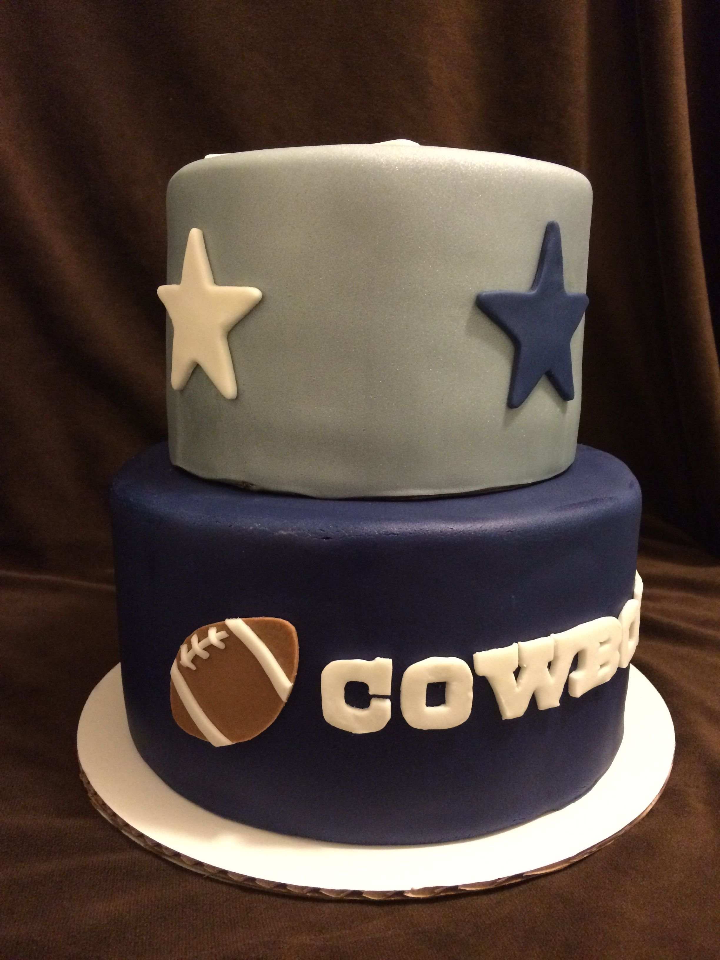 2 Tier Dallas Cowboys Cake Baby Boy Birthday 30th Ideas