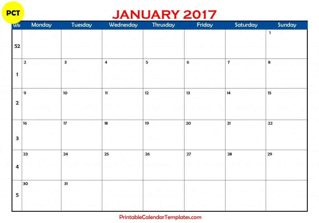 january 2017 calendar, january calendar 2017, january 2017 printable - printable calendars