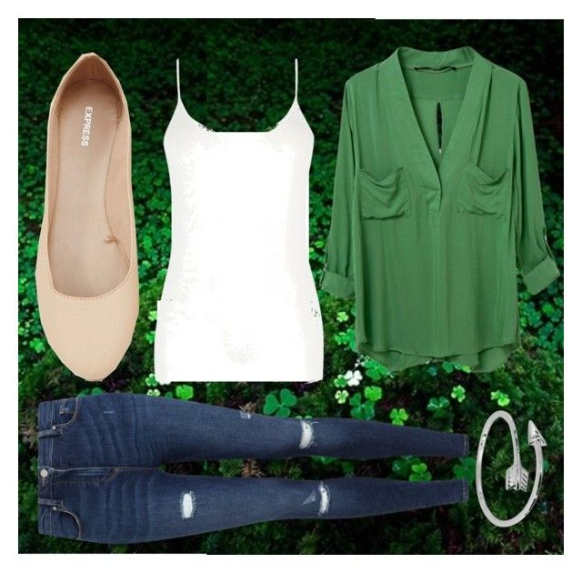 """Happy Saint Patrick's Day"" by brightest-in-darkness ❤ liked on Polyvore featuring Miss Selfridge, Express and Oasis"