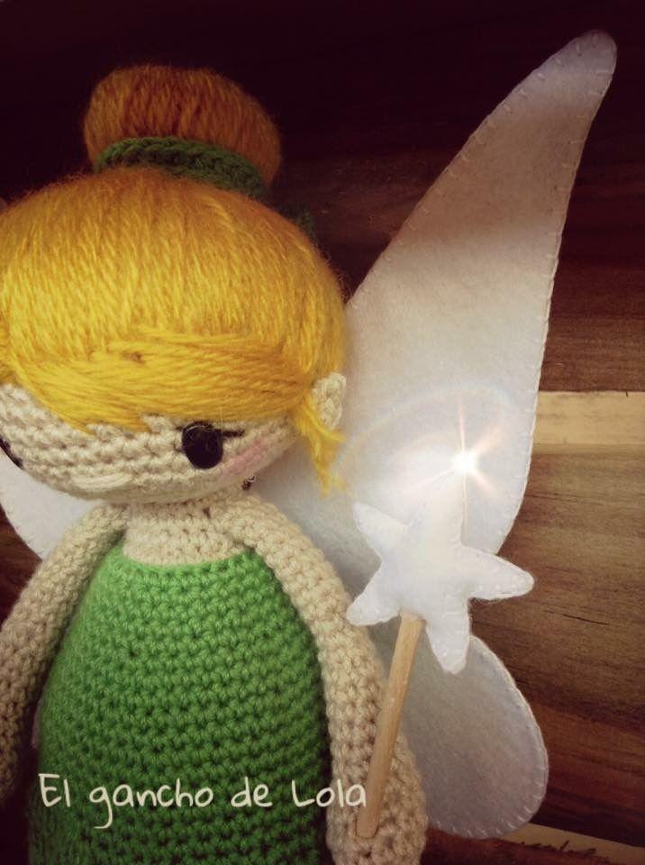 #elganchodelola #hechoamano #amigurumi #crochet #campanilla.