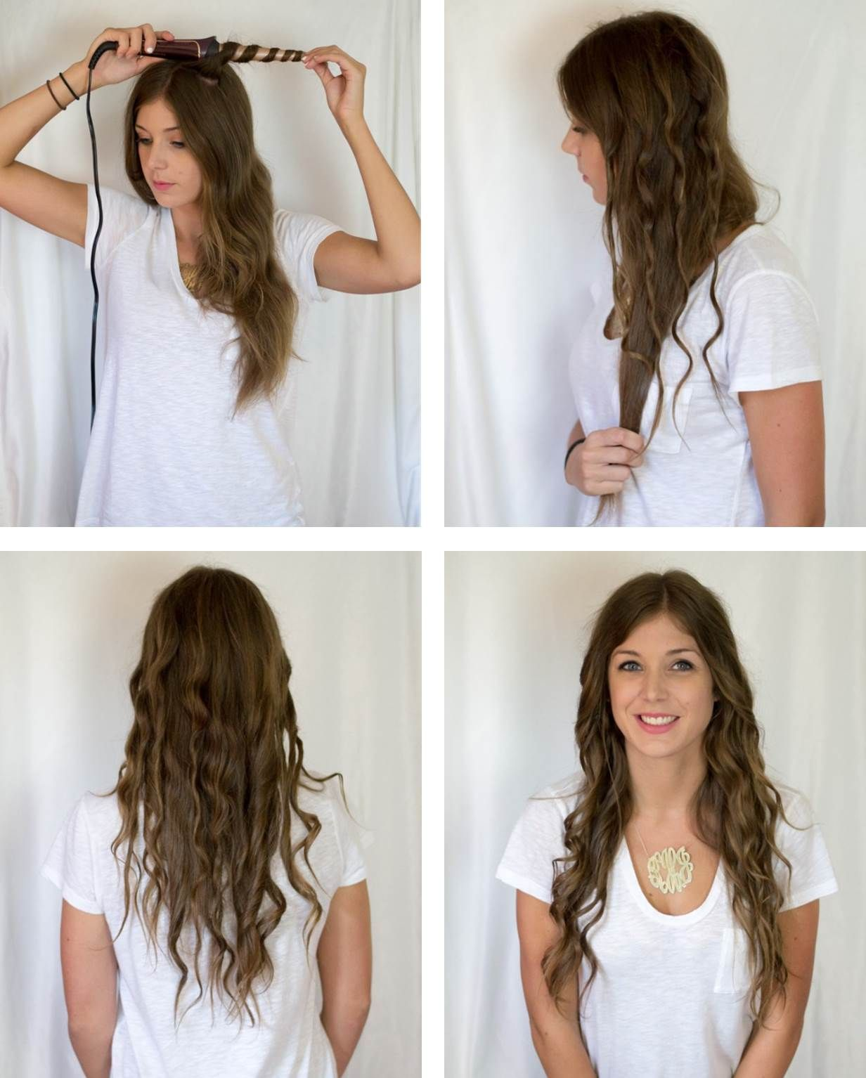 The twisted/spiral curl tutorial featuring the