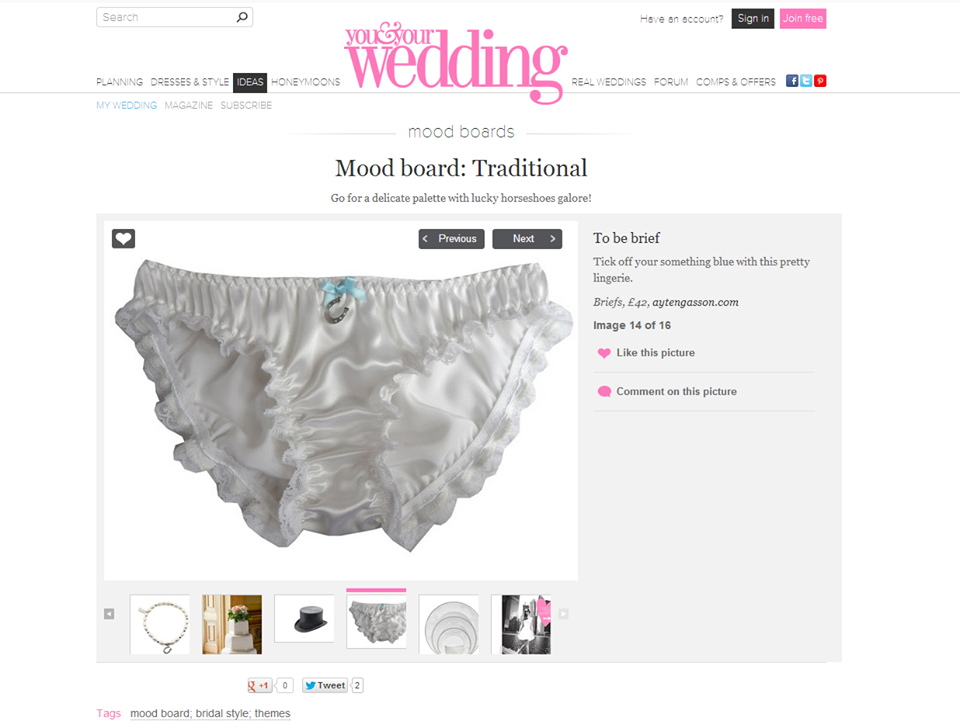 b3739500cfcc Getting married? Something blue with a little added charm, Ayten Gasson Lingerie's  bridal lingerie as featured on You and Your Wedding online.