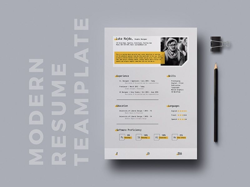 Resume File Format Alluring Free Modern Cv Template In Indesign File Format  Free Resume .
