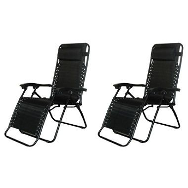 Caravan Sports Infinity Zero Gravity Chair 2 pk (Assorted Colors)