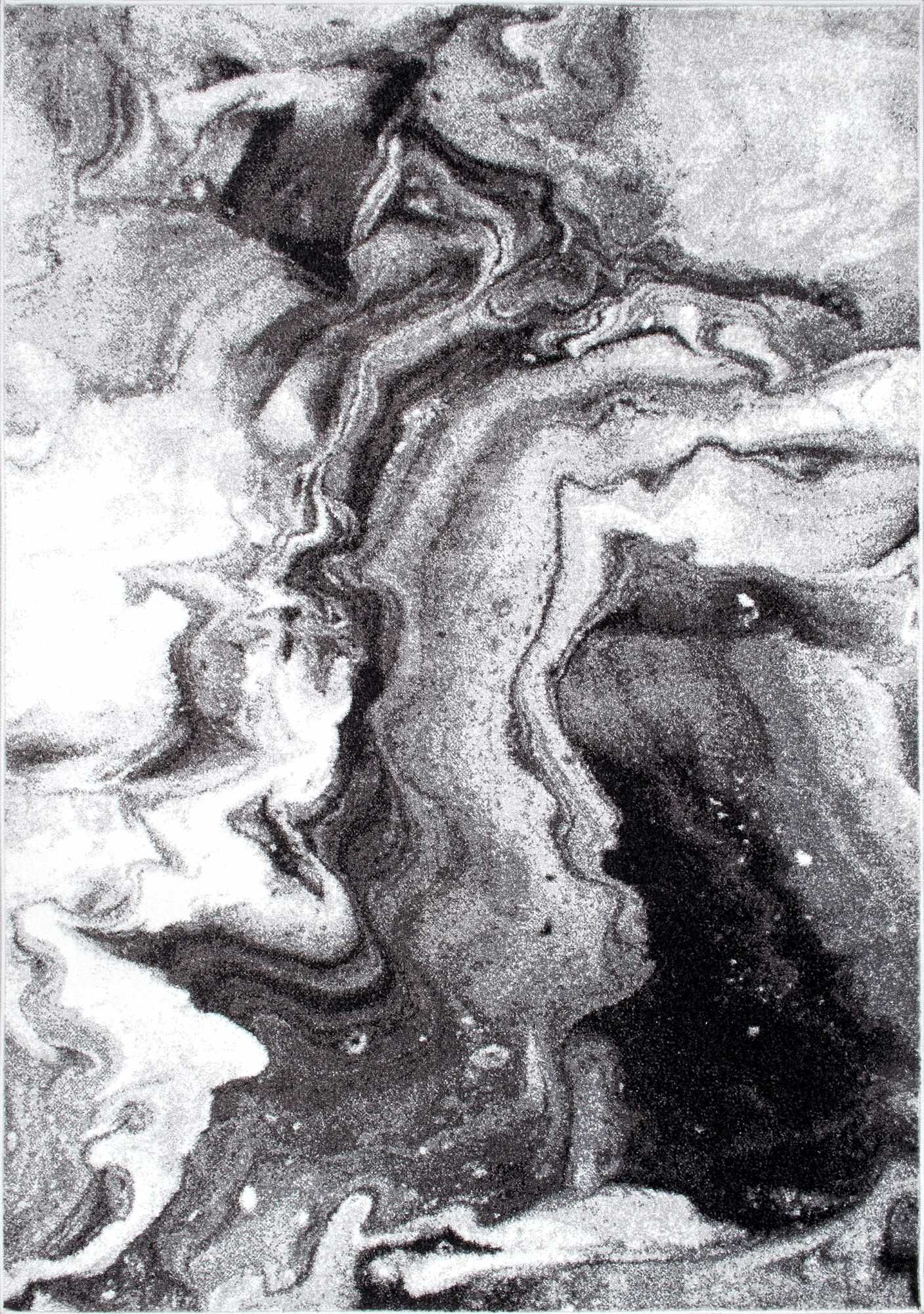 Like a body of water, this is Rugs USA's Granite SM11 Maren Abstract Marbling Art Rug!