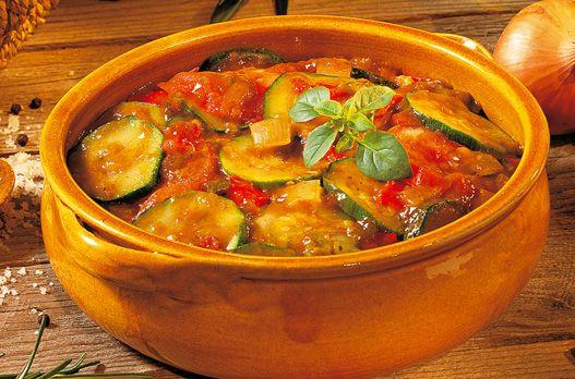 Tian de courgettes cuisinées (à la tomate et à l'huile d'olive)