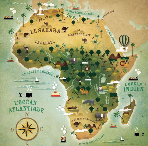Maptitude Africa LAtelier Cartographik South Africa - Africa desert map