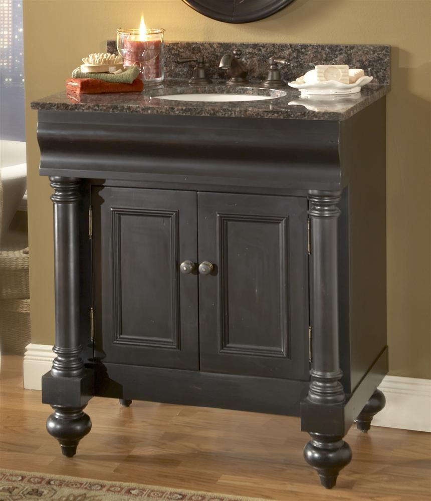 Bath 2 Vanity Kaco Guild Hall Vanity Distressed Black Does Not