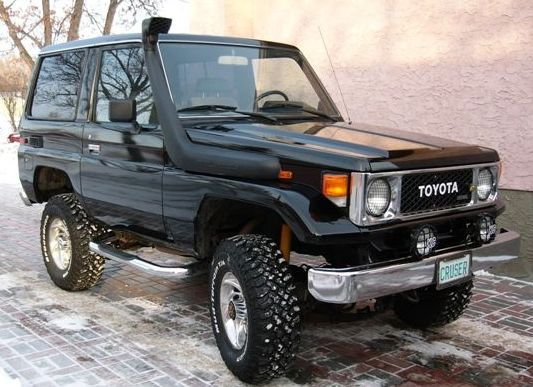 here we have a 85 BJ70 Toyota Land cruiser like mine