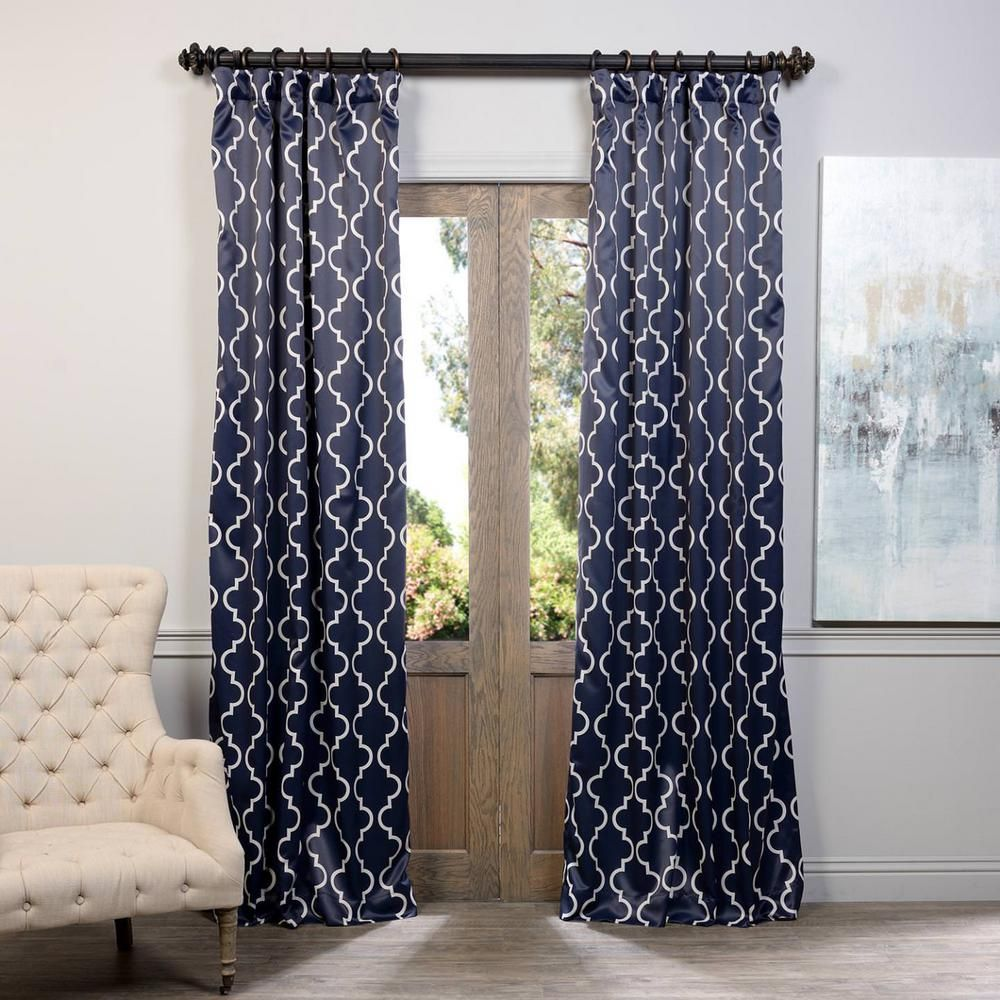 Bed bath and beyond window shades  exclusive fabrics u furnishings semiopaque seville navy blackout