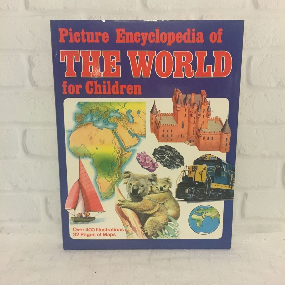 Picture Encyclopedia of The World for Children 1984 World Maps ...