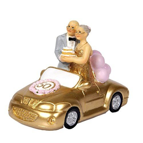 Small Standing Wedding Car Elderly Figurines Collectibles For Pas 50th Anniversary Gift Polyresin Statues