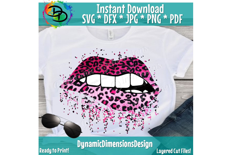 Sparkling Lips Animal Print SVG, Full Lip, Sparkle, Bling