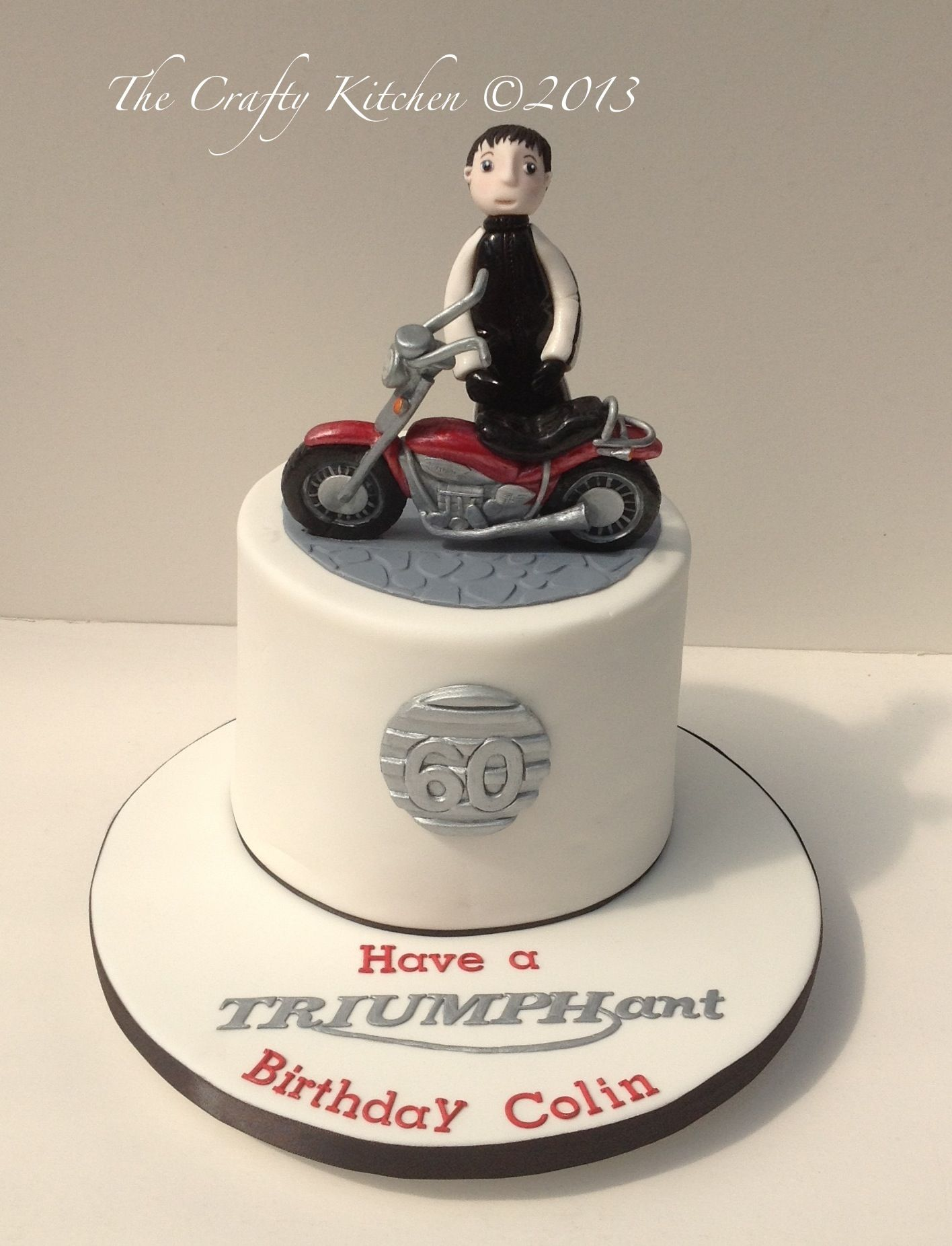 Wondrous Triumph Motorbike Cake Motorbike Cake Dad Birthday Cakes 70Th Funny Birthday Cards Online Alyptdamsfinfo