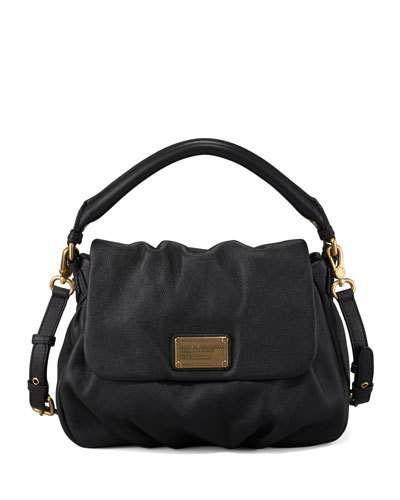 MARC JACOBS CLASSIC Q LIL UKITA SATCHEL BAG, BLACK. #marcjacobs #bags #shoulder bags #hand bags #leather #satchel #lining #