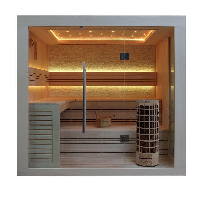 Eo Spa Sauna E1247b Pelholz 200x180 9kw Cilindro
