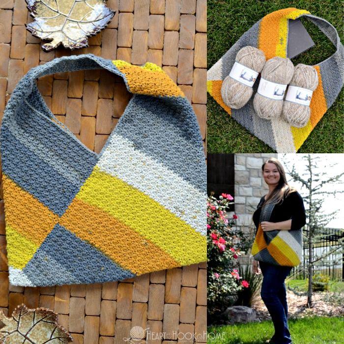 Caron Big Cake Carry-All Bag One Skein Wonder | Blusas crochet ...