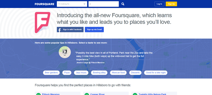 Apps and Tools to Help You Trace Your Friends: Foursquare