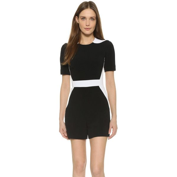 Mugler Short Sleeve Romper (£1,255) ❤ liked on Polyvore featuring jumpsuits, rompers, thierry mugler, short sleeve rompers, playsuit romper and short sleeve romper