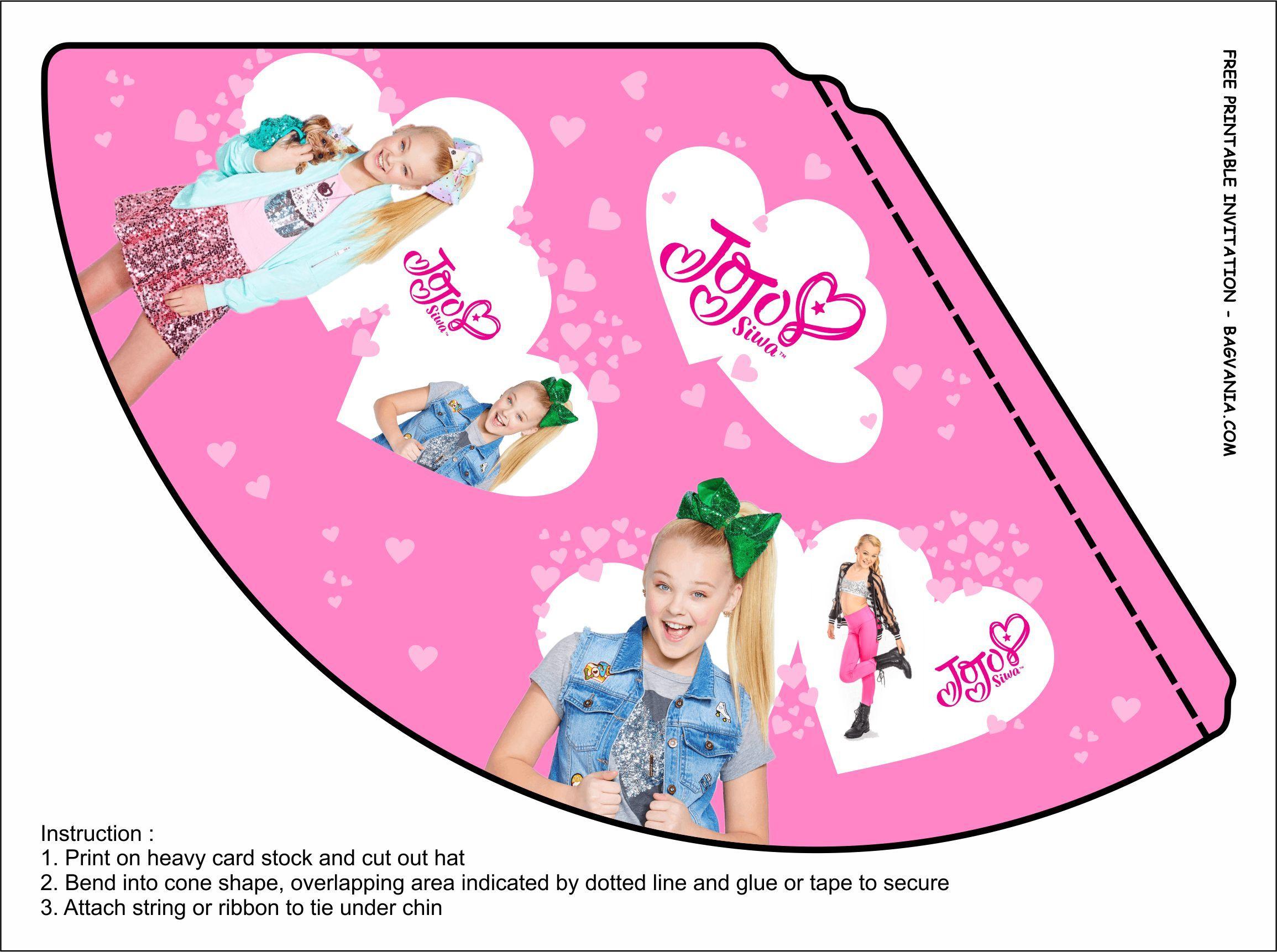 Free Printable Jojo Birthday Party Kits Template Birthday Party Kits Party Kits Jojo Siwa Birthday