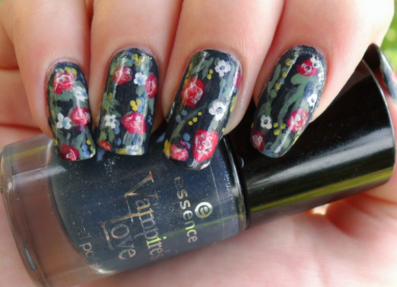 Floral nail designs vintage floralg all about diy nails and floral nail designs vintage floralg prinsesfo Image collections