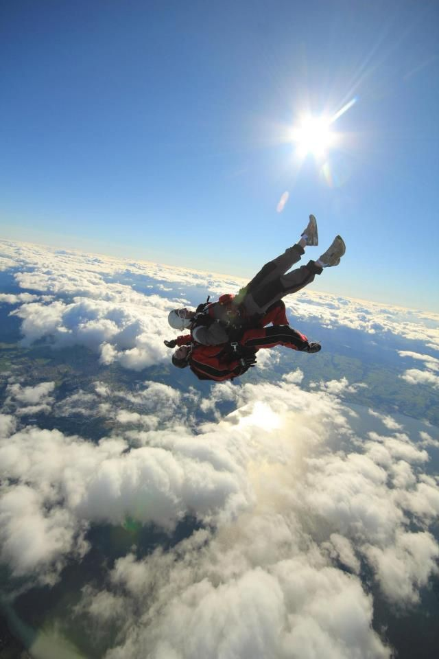 Just jumping out of a perfectly good plane at 12,000ft #greatwalker