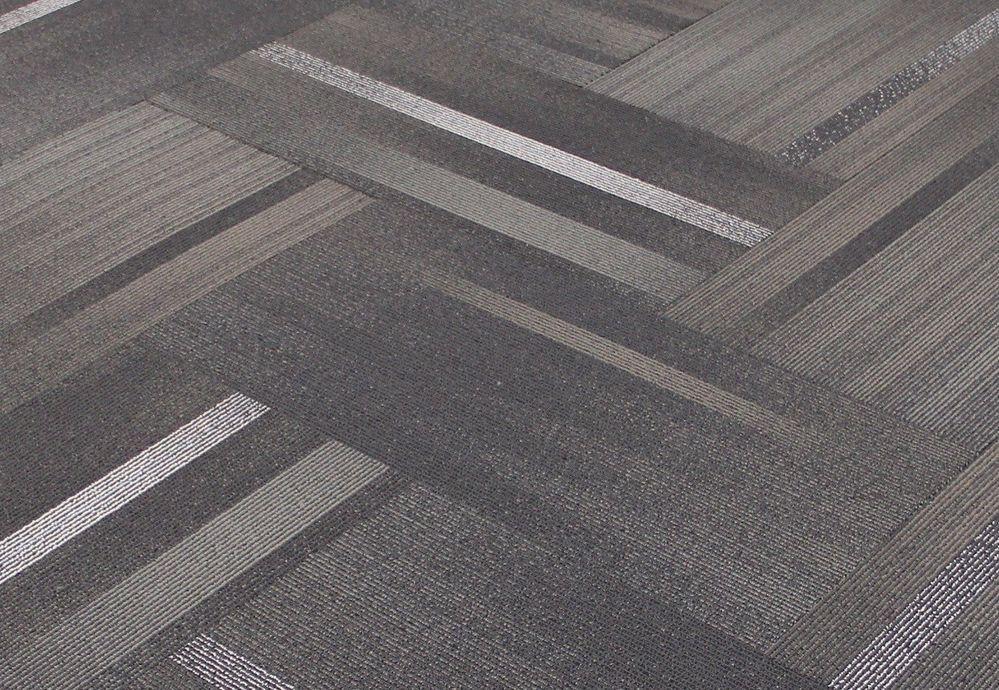 Shaw Chevron Overlay Oh So Sterling Carpet Tiles 18 X 36