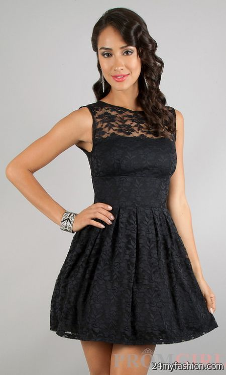Cool Black lace short dress 2018-2019 Check more at http ...