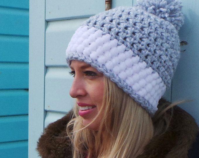 Precioso gorro a Crochet, patrón en Etsy.   Gorros y Sombreros ...