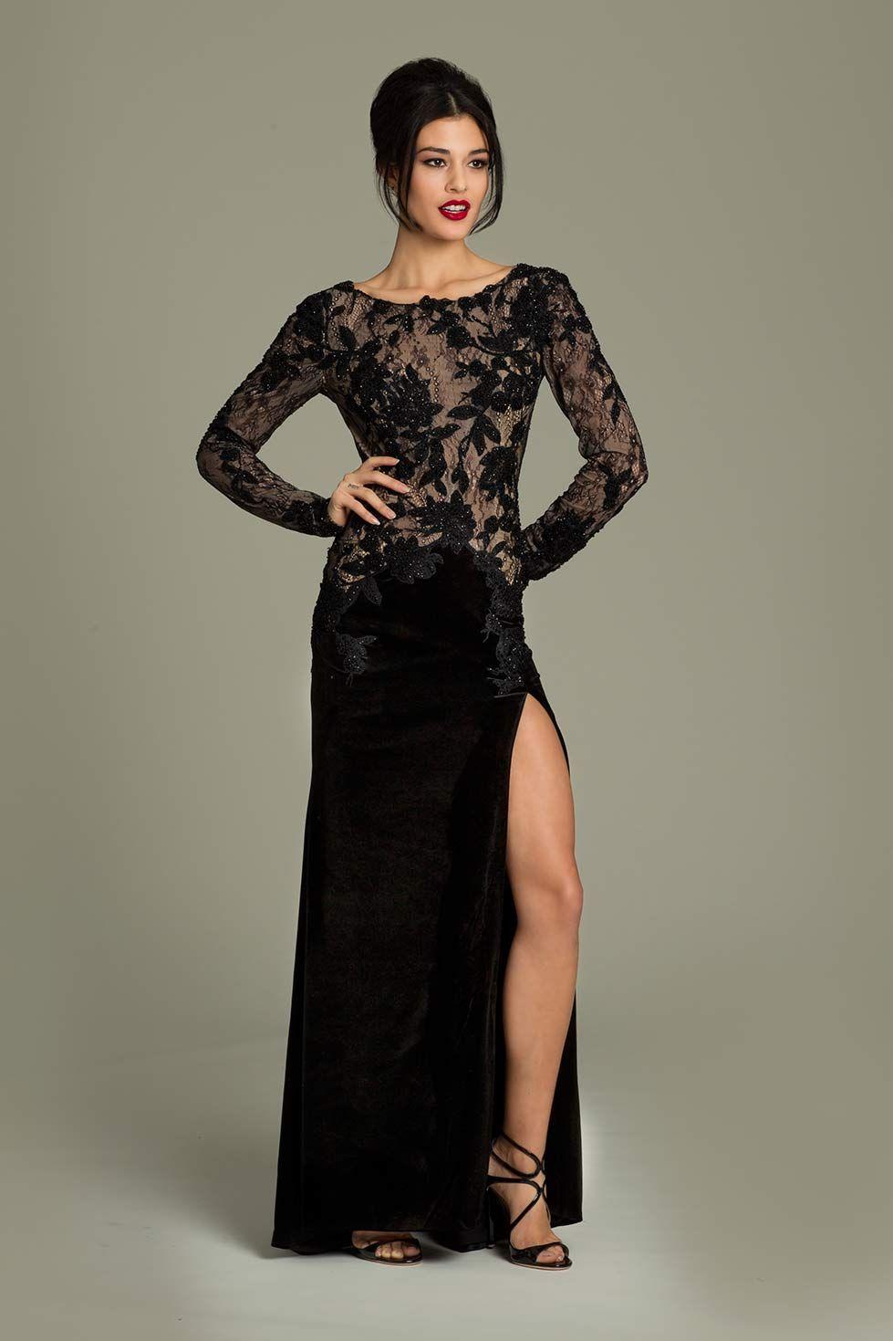 Velvet and lace jovani gown bon vivant pinterest gowns black