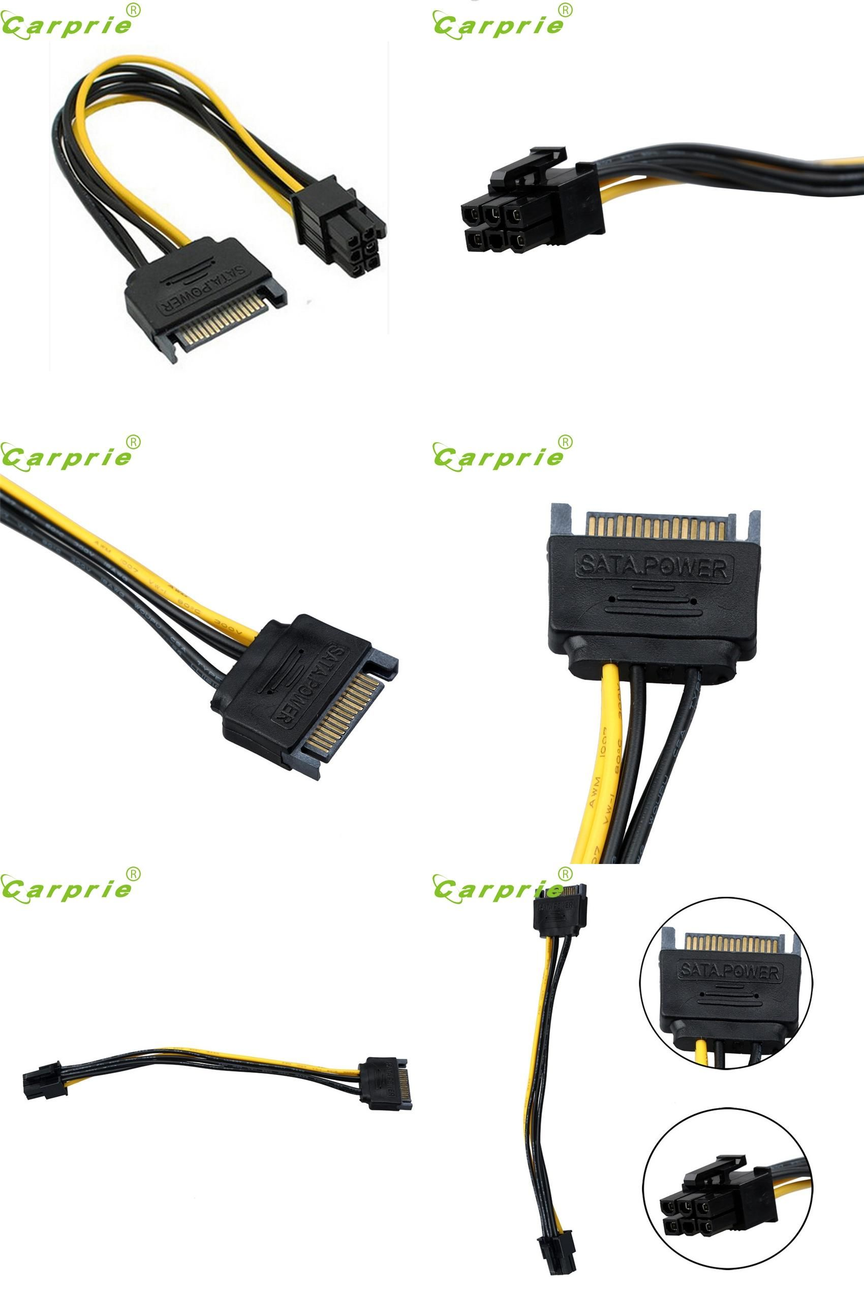 609ef9da1eaeeab3200ad22d8595cd69 visit to buy] carprie e5 sata power cable 15 pin to 6 pin pci  at n-0.co