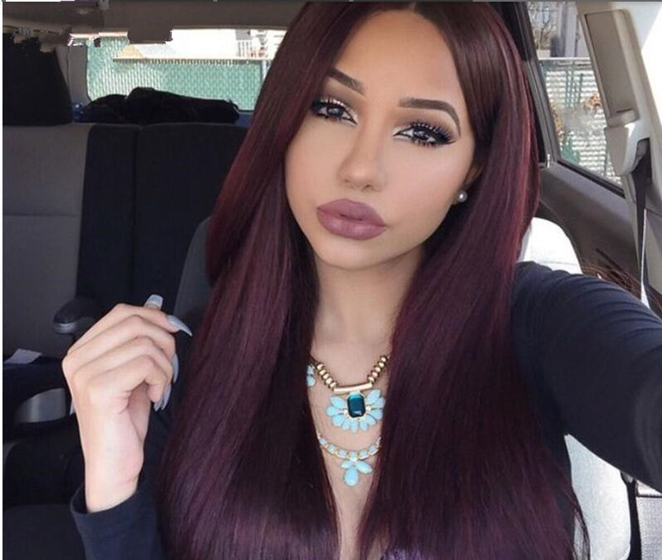 Luffy density straight middle part j lace front wig peruvian