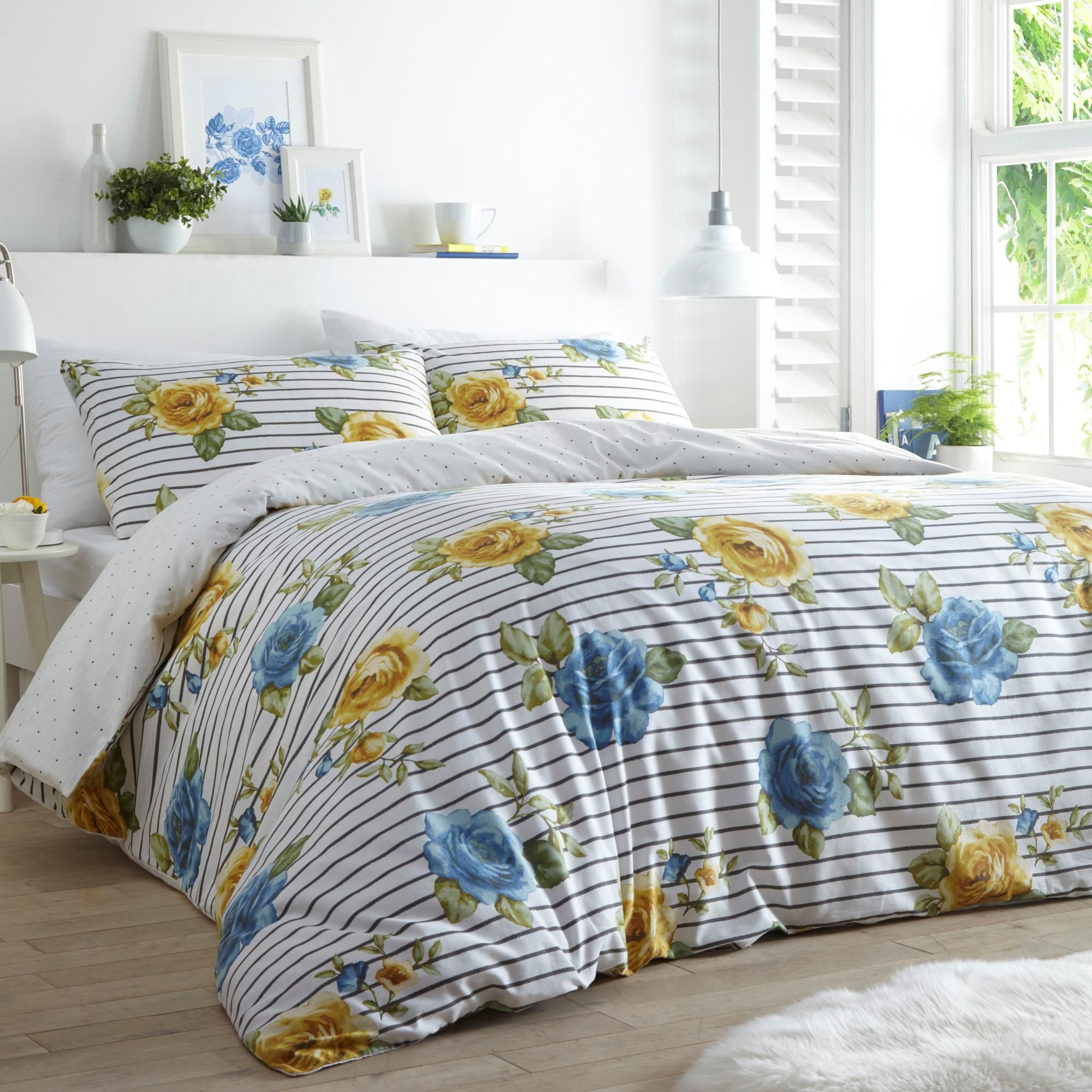 Rapport Havana Blue Duvet Cover Set Reversible Bedding Set