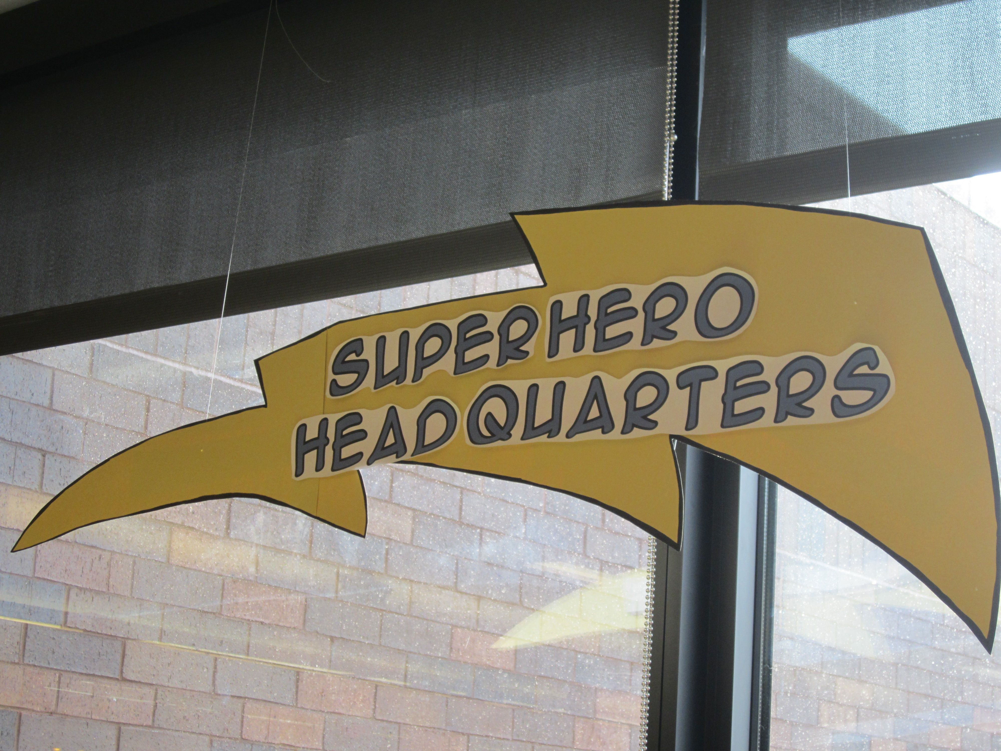 Sign Above The Superhero Headquarters Station Superhero Teacher Appreciation Superhero Superhero Party