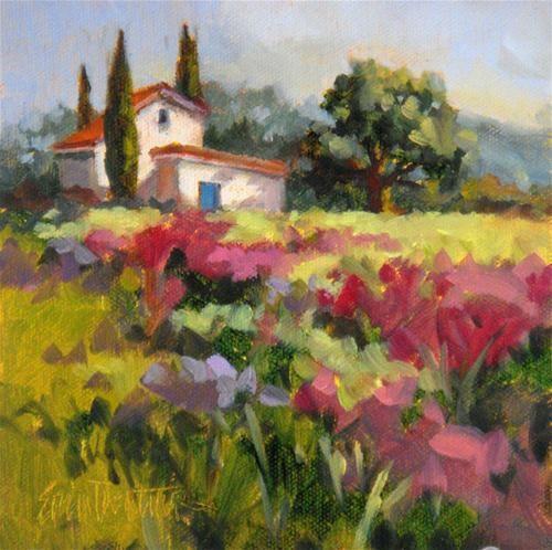 "Original Fine Art For Sale: ""Flowering Meadow"""
