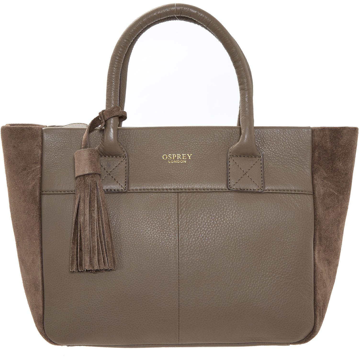 Osprey womens leather gloves -  Osprey London Taupe Suede Tote Bag Tk Maxx