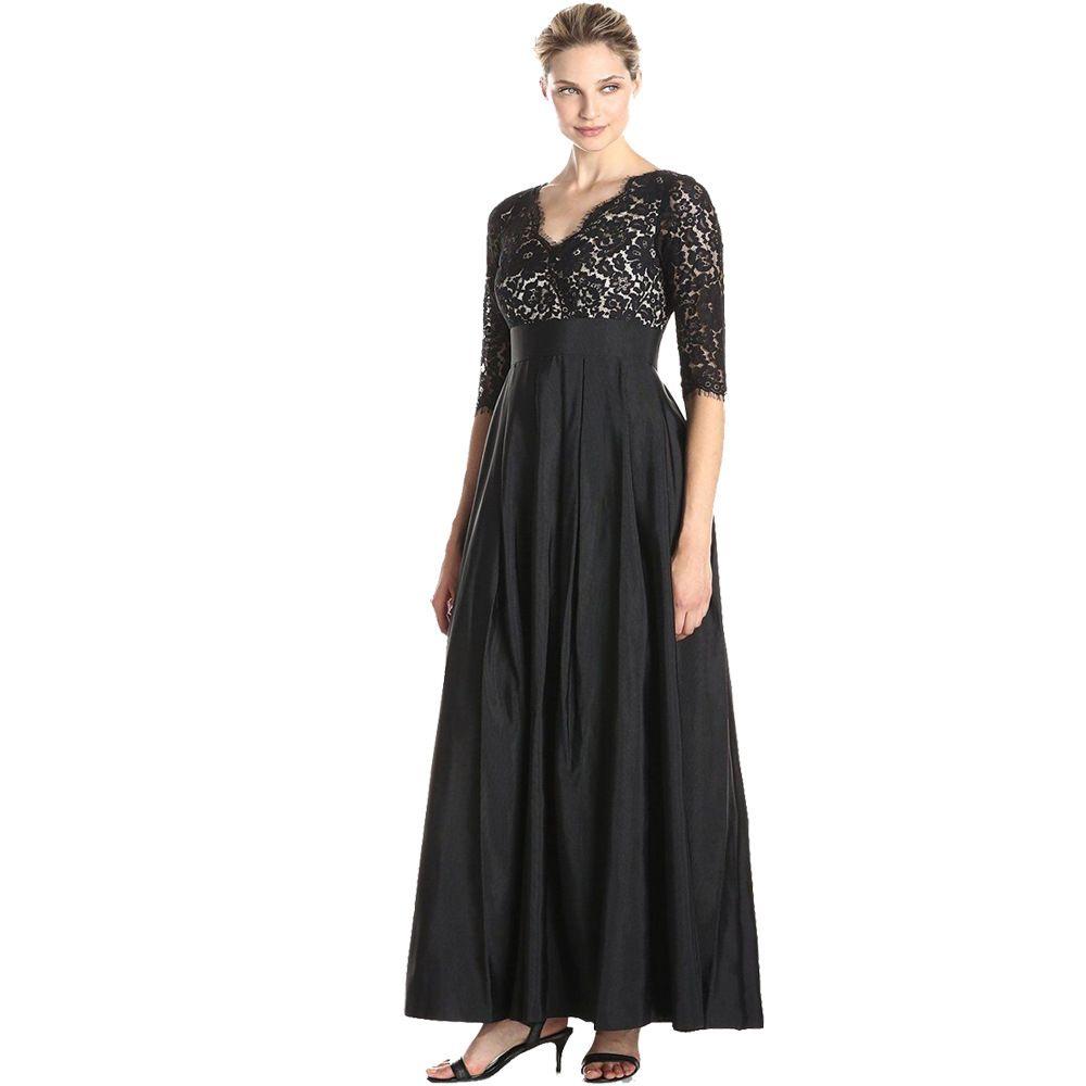 Ladies black evening maxi dress