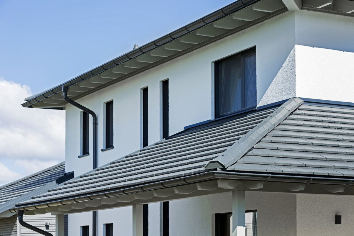 Dach mit Dachüberstand - Architektur Detail Fertighaus Bongart von ...