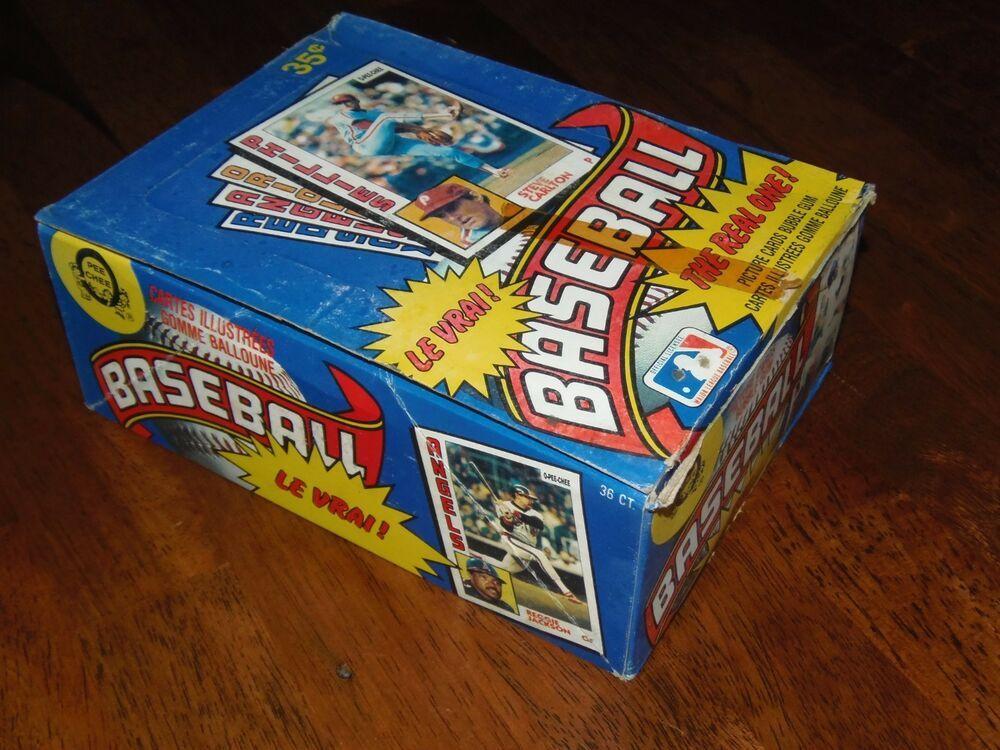 1984 opeechee unopened topps baseball card wax box