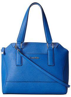 be77f140225 Calvin Klein Pierce Saffiano Leather Satchel on shopstyle.com ...