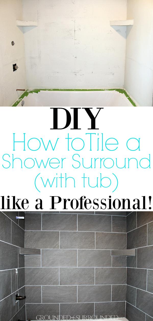 DIY: How to Tile Shower Surround Walls | Master suite bathroom, Grey ...