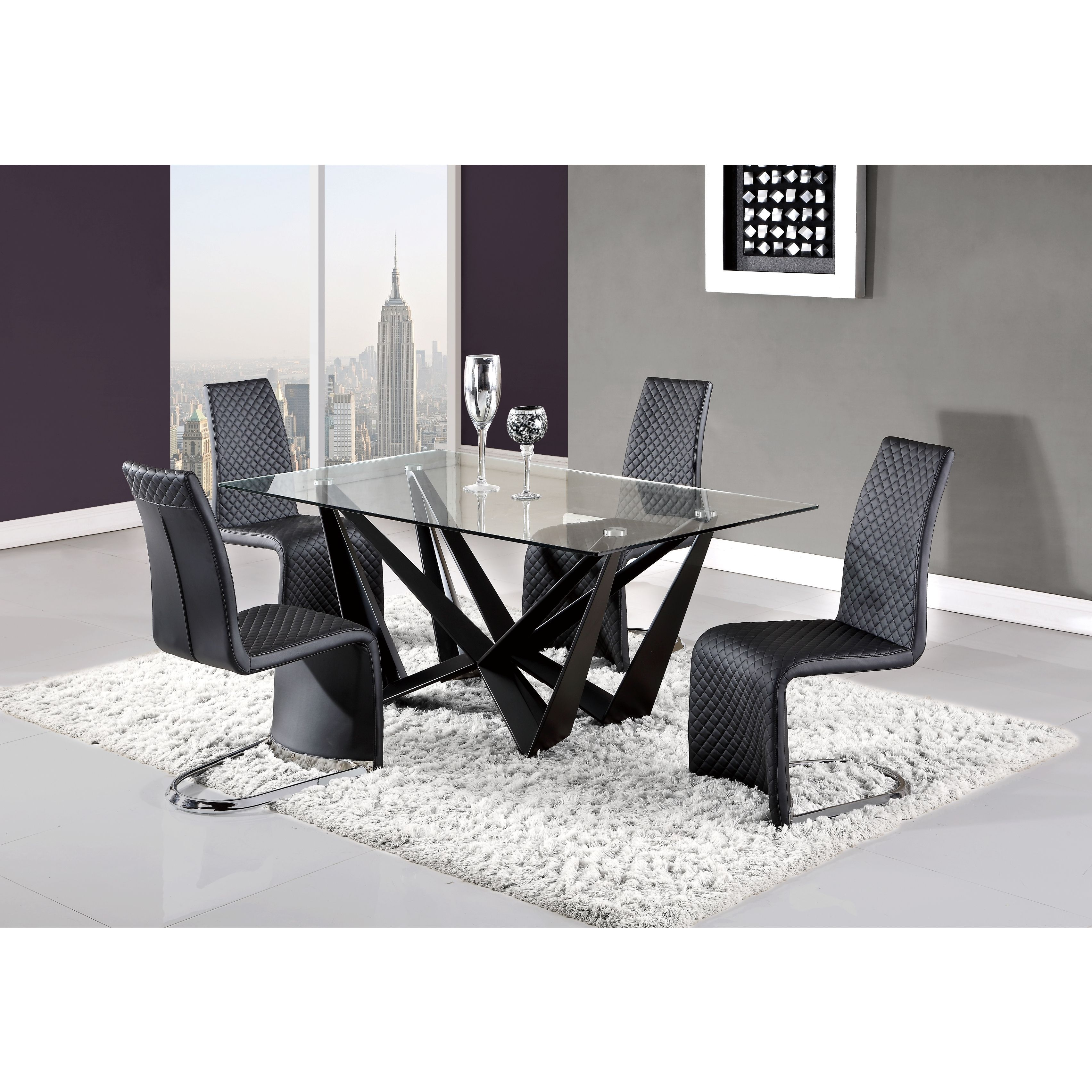 Quilted Black Curved Dining Chair With Images Dining Table