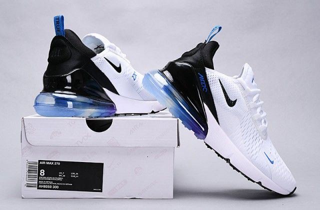 Nike Air Max 270 White Blue Black Multi Color AH8050 300