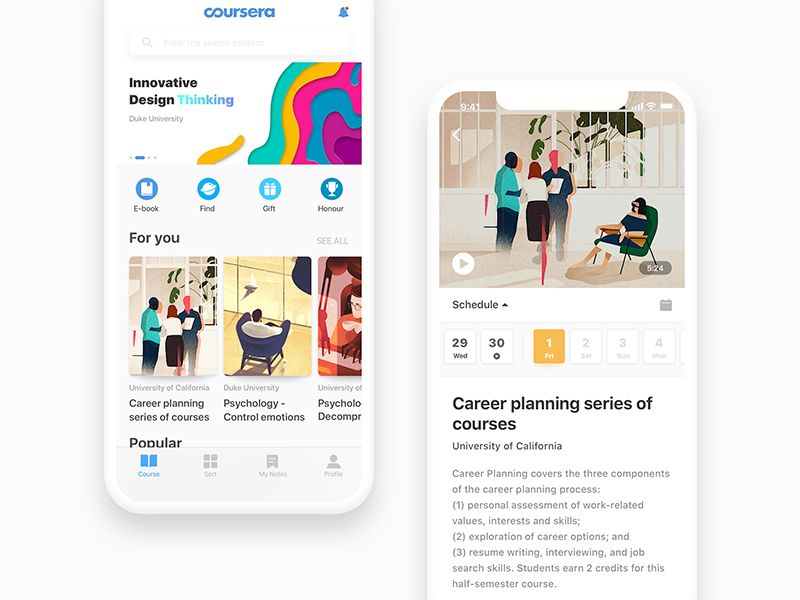 Coursera Application Interface Design Interface Design Ux Design Learn Online Course Design