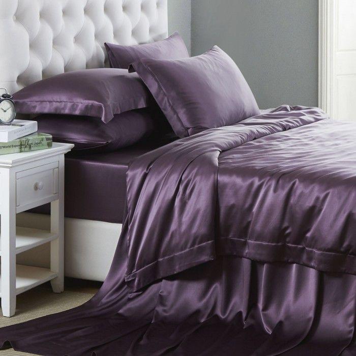 19mm ensemble de linge de lit en soie 6pc linge de lit linge et soie. Black Bedroom Furniture Sets. Home Design Ideas
